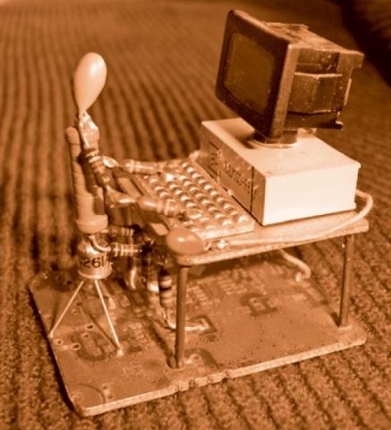 « Computer Freak » fait de déchets électroniques.