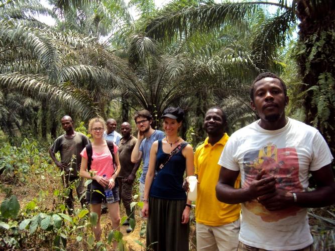 ISF Cameroun et Agrista en visite dans une palmeraie villageoise au Cameroun