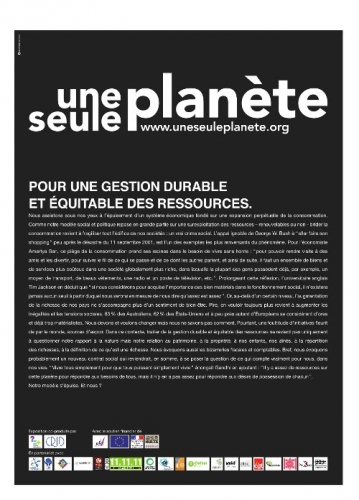 Introduction de l'exposition Une seule planète