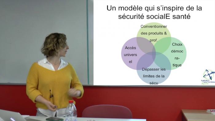 Lorine Azoulay d'Agrista présente la Sécurité sociale de l'alimentation.