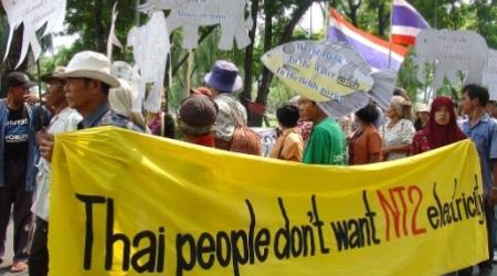 Manifestation en Thaïlande contre un barrage hydroélectrique