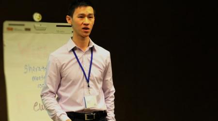 Présentation d'EWB-SA par David Ming lors du Forum Mondial d'EWB-International