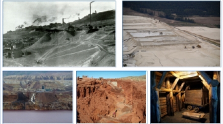 Différentes mines à travers le monde
