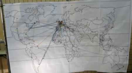 Carte des mobilités et migrations des participants