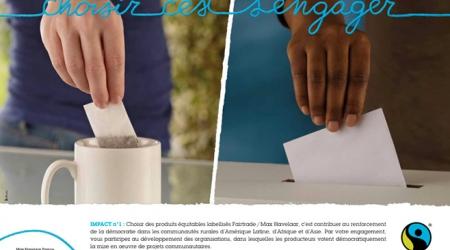 Affiche de la dernière campagne de Max-Havelaar France
