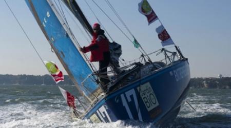 Départ de la course - Voilier de Benoît Parnaudeau